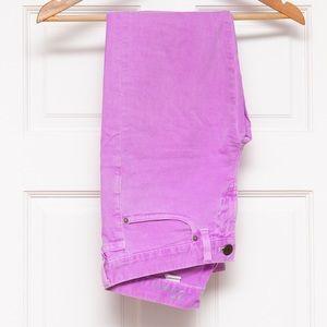 Bright purple JCrew toothpick jeans